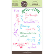 """You & Me Sentiments - Joy Clair Clear Stamps 4""""X6"""""""