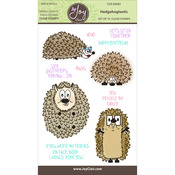 """Hedge Hogtastic - Joy Clair Clear Stamps 4""""X6"""""""
