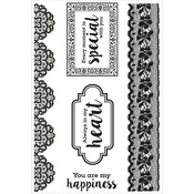 """Cottage Rose Clear Stamps 6""""X4"""""""