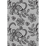 Floral Lace - Cottage Rose Clear Background Stamp