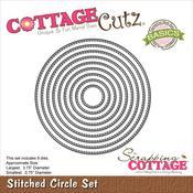 Stitched Circle - CottageCutz Basics Dies 9/Pkg