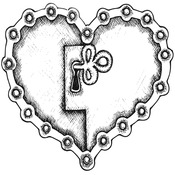 "Unchain My Heart - Gourmet Rubber Stamps Cling Stamps 3.75""X4.75"""