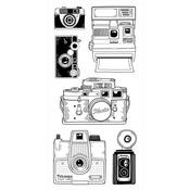 "Cameras - Inkadinkado Clear Stamps 4""X8"""