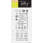 "Fitness Planner - Kelly Purkey Clear Stamps 2.5""X6"""