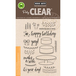 "Birthday Cake Layering - Hero Arts Clear Stamps 4""X6"""