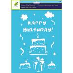 Happy Birthday Stencil - Color Factory