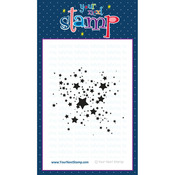 "Star Ink Splatter - Your Next Stamp Clear Stamps 4""X4"""