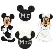 Mickey & Minnie Wedding - Dress It Up Licensed Embellishments