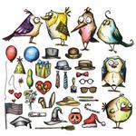 Mini Bird Crazy & Things Sizzix Framelits Dies By Tim Holtz