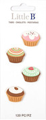 Cupcakes  Stationery Tabs - Little B