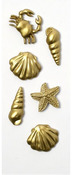 Gold Sea Life Mini Stickers - Little B