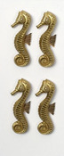 Gold Seahorse Mini Stickers - Little B