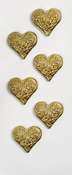 Gold Heart Mini Stickers - Little B