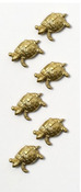 Gold Turtles Mini Stickers - Little B