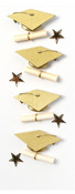 Gold Graduation Mini Stickers - Little B
