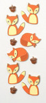 Foxes Mini Stickers - Little B