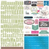 Painted Passport Sticker Sheet - Websters Pages