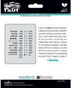 Date It Illustrated Faith Basics Roller Stamp - Bella Blvd