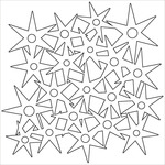 "Star Circle - Crafter's Workshop Balzer Bits Mask 4""X4"""