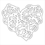 "Scribbled Heart - Crafter's Workshop Fragments Templates 4""X4"""