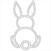 """Bunny - Crafter's Workshop Fragments Templates 4""""X4"""""""