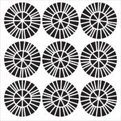 "Spikey Wheels - Crafter's Workshop Template 6""X6"""
