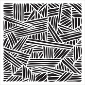 """Overlapping Stripes - Crafter's Workshop Template 6""""X6"""""""