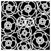 "Poppy Field - Crafter's Workshop Template 6""X6"""