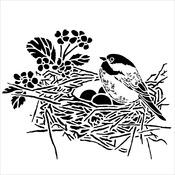 "Bird Nest - Crafter's Workshop Template 6""X6"""