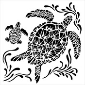 "Sea Turtles - Crafter's Workshop Template 6""X6"""