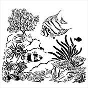 "Aquarium - Crafter's Workshop Template 6""X6"""