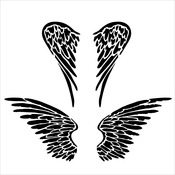 "Angel Wings - Crafter's Workshop Template 6""X6"""