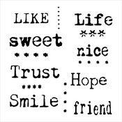 """Life Words - Crafter's Workshop Template 6""""X6"""""""