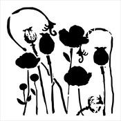 """Poppy Garden - Crafter's Workshop Template 6""""X6"""""""