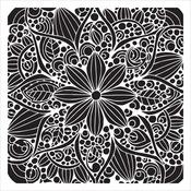 "Doodle Bloom - Crafter's Workshop Template 6""X6"""