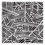 """Overlapping Stripes - Crafter's Workshop Template 12""""X12"""""""