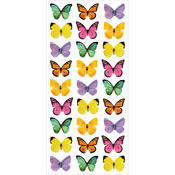 """Mini Mixed Butterflies - Paper House Puffy Stickers 3""""X6.35"""""""