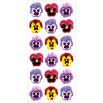 Pansies - Paper House Puffy Stickers