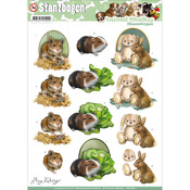 Fluffy Animals - Find It Trading Amy Design Animal Medley Punchout Sheet