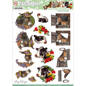 Horse & Cow - Find It Trading Amy Design Animal Medley Punchout Sheet