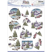Find It Trading Yvonne Creations Colorful Christmas Punchout
