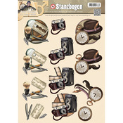 Shaving/Camera/Pocket Watch - Find It Trading Amy Design It's A Mans World Punchout Sheet