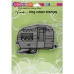 "Tiny Trailer - Stampendous Cling Stamp 6.5""X4.5"""