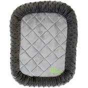 "Gray - GoDog Bedzzz Bubble Plush Extra Small 18""X13"""