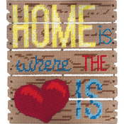 "10.5""X11.5""X1.25"" 7 Count - Pallet-Ables Home Is Where The Heart Is Plastic Canvas Kit"