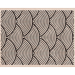 """Wave Pattern Background - Hero Arts Mounted Rubber Stamp 4.25""""X5.5"""""""