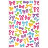 "Bows - Glitter Gel Stickers 5.5""X8.25"""