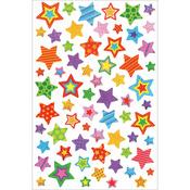 """Stars - Glitter Gel Stickers 5.5""""X8.25"""""""