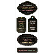 """Start To Be Great - MultiCraft Chalk Inspirational Tags 3""""X6.5"""" Sheet"""