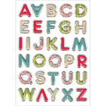 "Vibrant Letters - Foil 3D Pop-Up Stickers 5""X7"" Sheet"